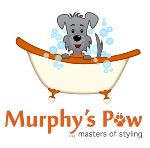 Picture of Dog with Murphy's Paw Logo
